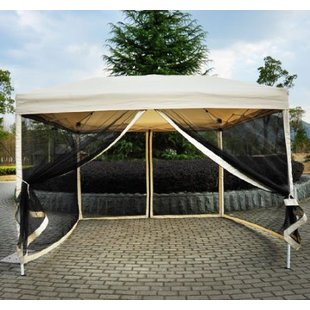 outdoor canopy haddox 10 ft. w x 10 ft. d steel pop-up canopy YYLMRHB