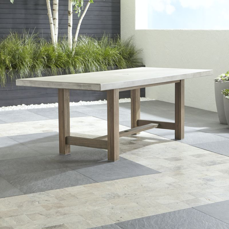 outdoor dining table cayman dining table + reviews | crate and barrel PEYQRYQ