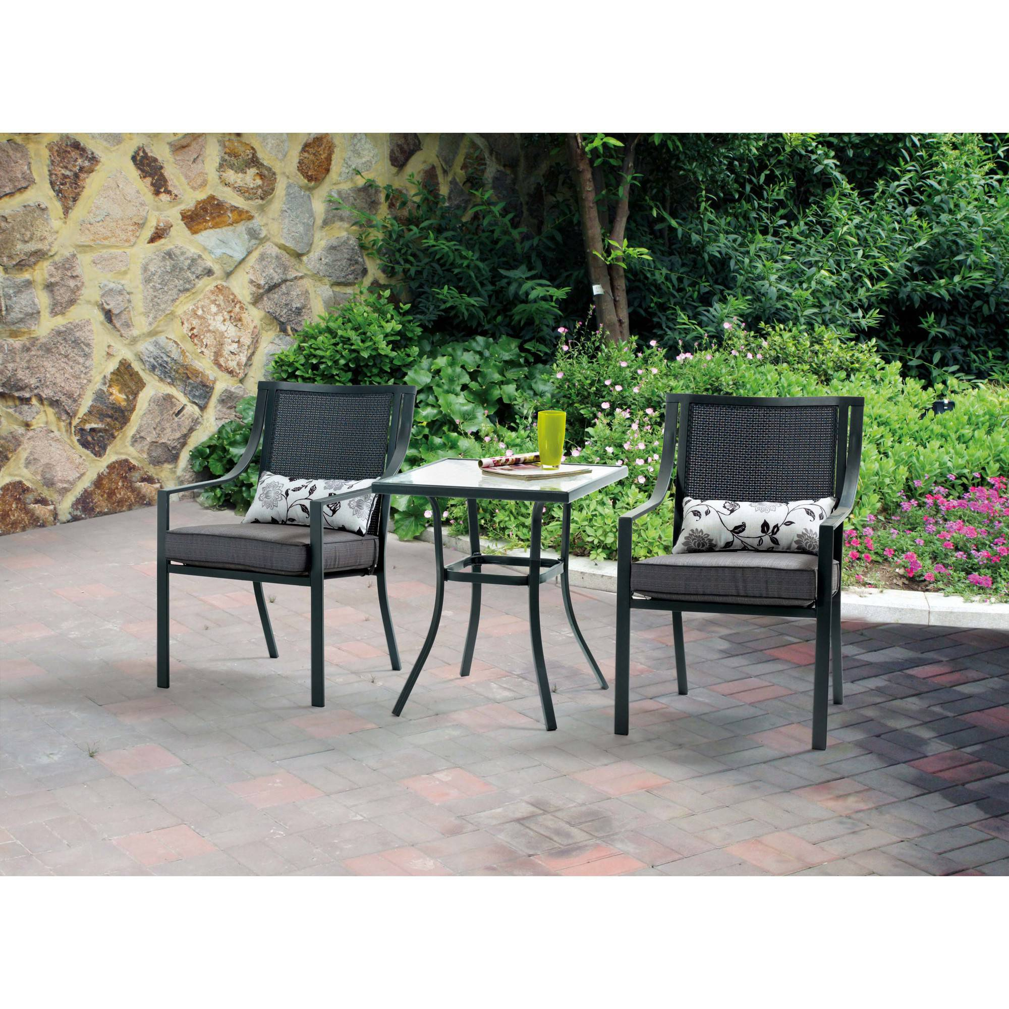 outdoor garden furniture better homes and gardens rose 3 piece outdoor bistro set - PAMZDOY