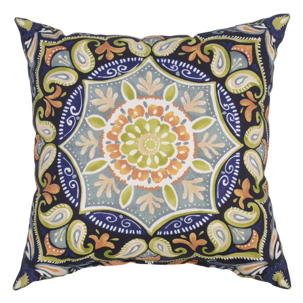 outdoor pillows hampton bay sky medallion square outdoor throw pillow BPGOOBZ