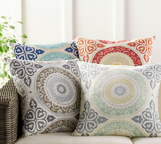 outdoor pillows leona medallion indoor/outdoor pillow YMZJGEZ