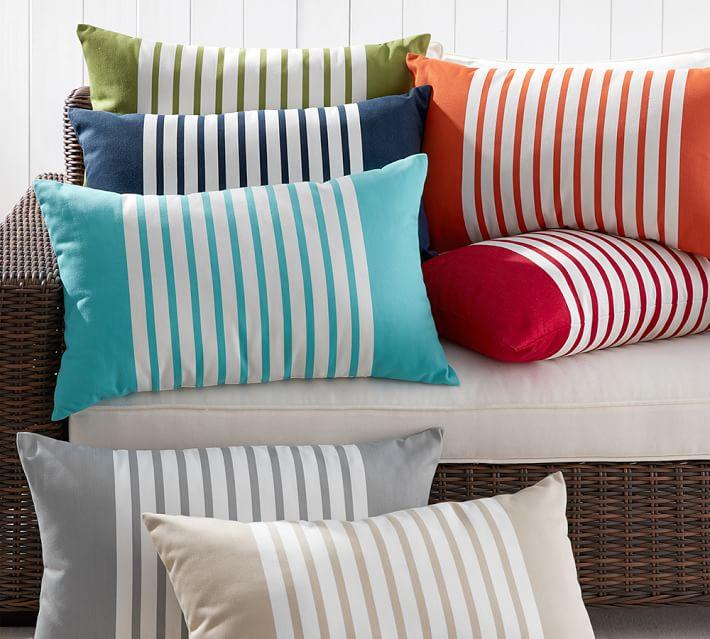 outdoor pillows mariner stripe indoor/outdoor pillow | pottery barn XDXBOKJ