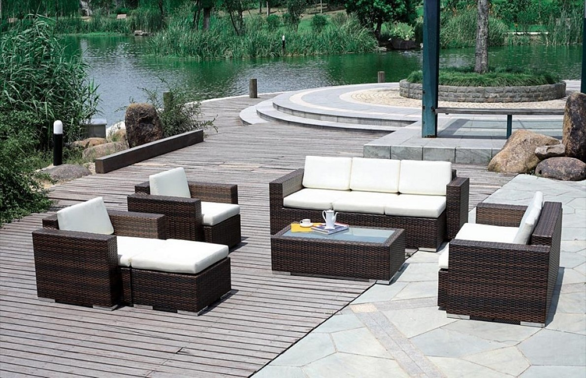outdoor pool furniture sets wicker LVZLOMK