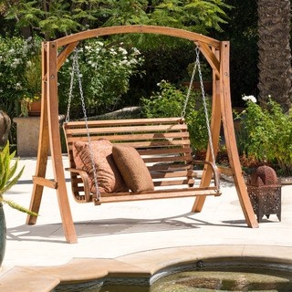 outdoor swings christopher knight home tulip outdoor wood swinging loveseat (2 options NASWXUY
