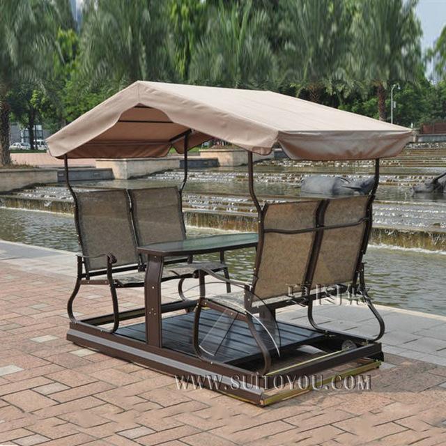 outdoor swings modern 4 seats right left movable outdoor swing chair adult hammock SUSJNDW