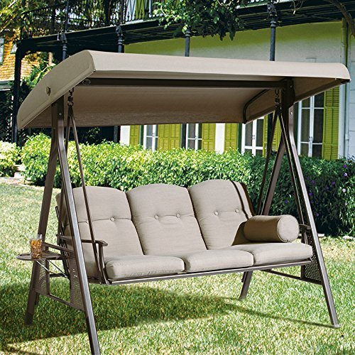 outdoor swings rohrbaugh 3 seat outdoor porch swing with stand FKNTWGM