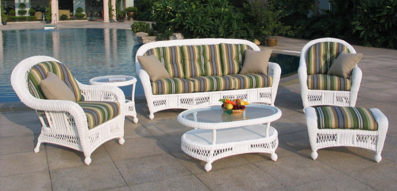 outdoor wicker furniture st lucia 6 piece outdoor wicker sofa set JQGYYNX