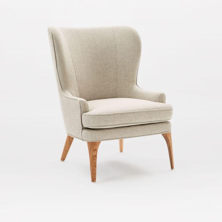 owen wing chair   west elm QLOVOAR
