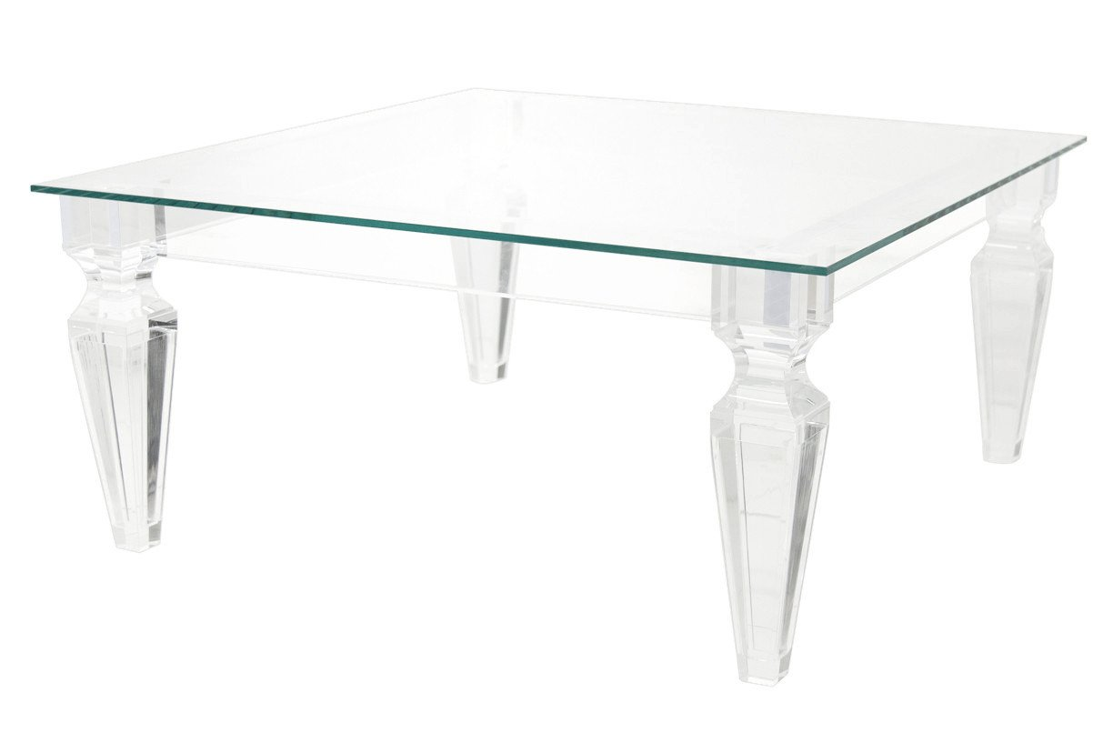 palm beach lucite coffee table HRGUWWI
