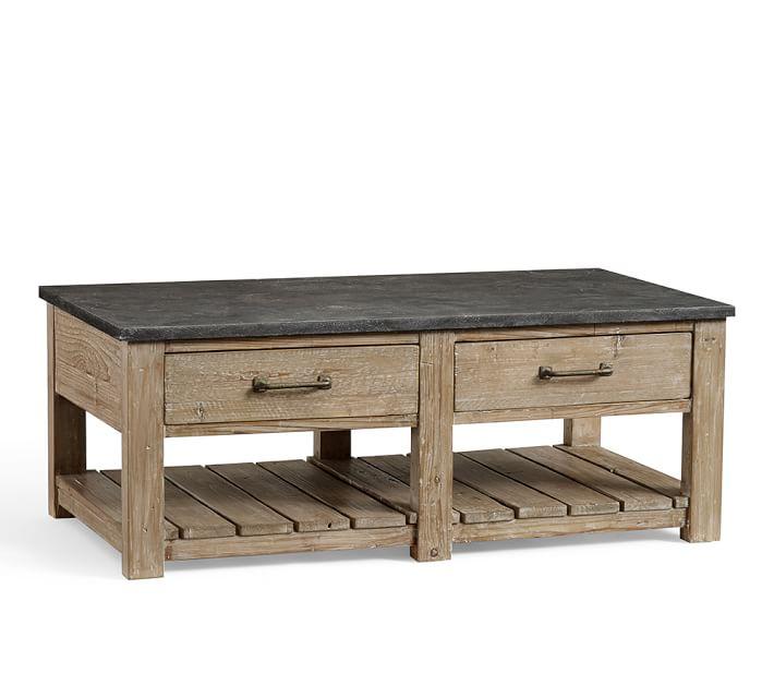 parker reclaimed wood coffee table | pottery barn CJMWUWF