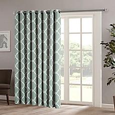 patio door curtains madison park saratoga 84-inch grommet top patio door window curtain panel ZCBUATW