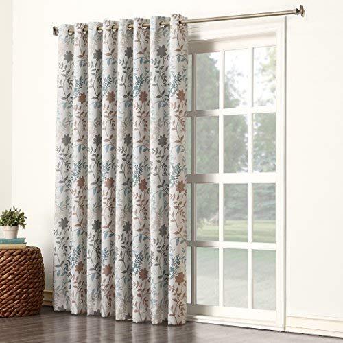 patio door curtains sun zero kara extra wide energy efficient grommet patio door curtain AVKMDJZ