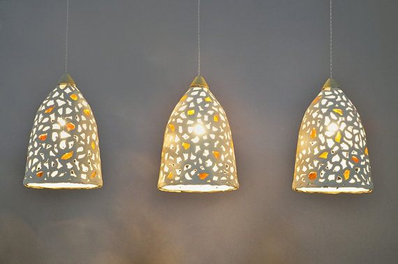 pendant light shades hanging lamp shades. lighting. 3 ceramic pendant ZKTKARL