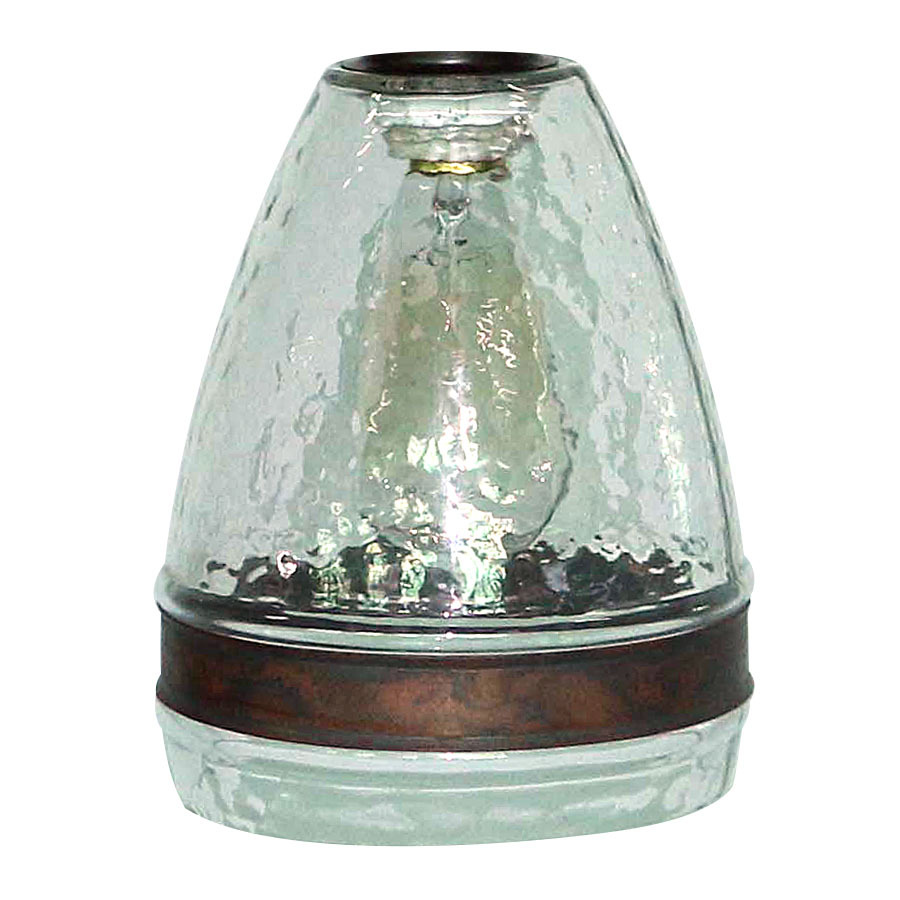 pendant light shades portfolio 7.5-in h 6-in w clear textured glass bell pendant light SVDVWQQ