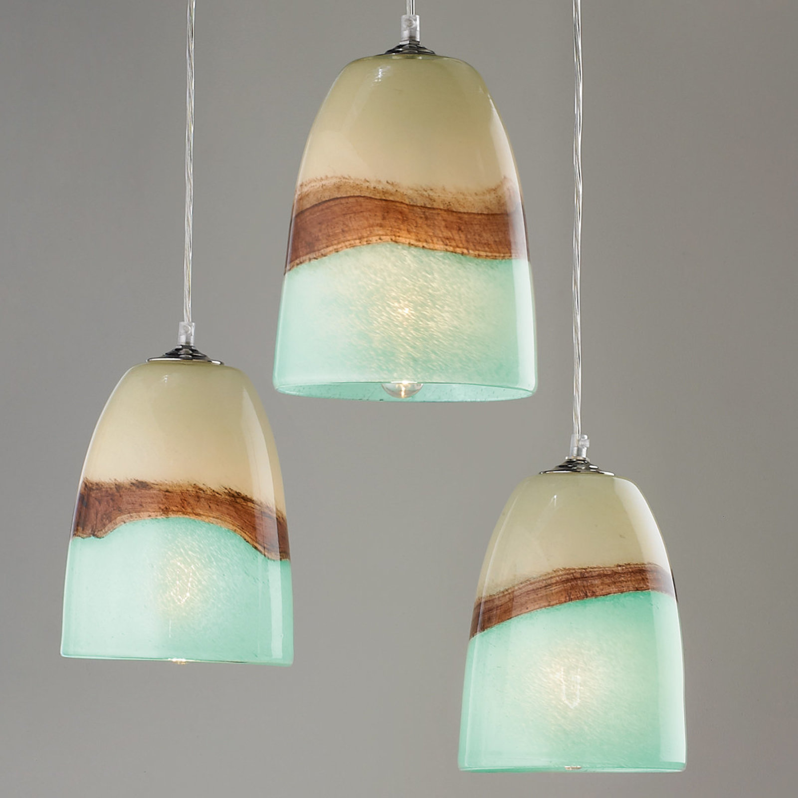 pendant light shades strata art glass pendant light aqua_and_brown FZVKYQT