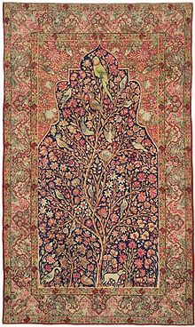 persian carpets kermanshah u0027tree of lifeu0027 carpet, 3rd quarter 19th century MKYPYEE