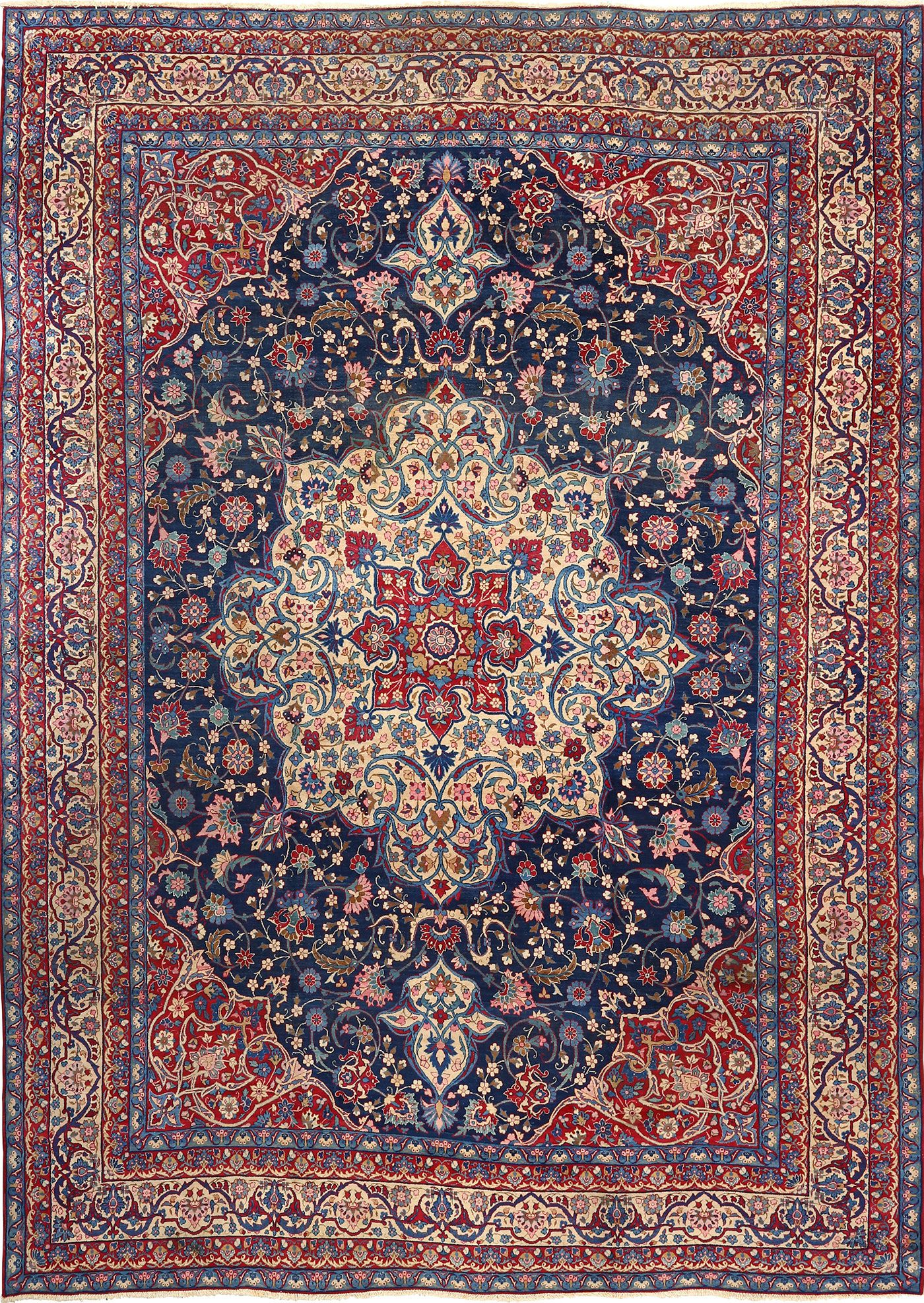 persian rugs antique blue bakground isfahan persian rug 51066 nazmiyal CFCVOTE