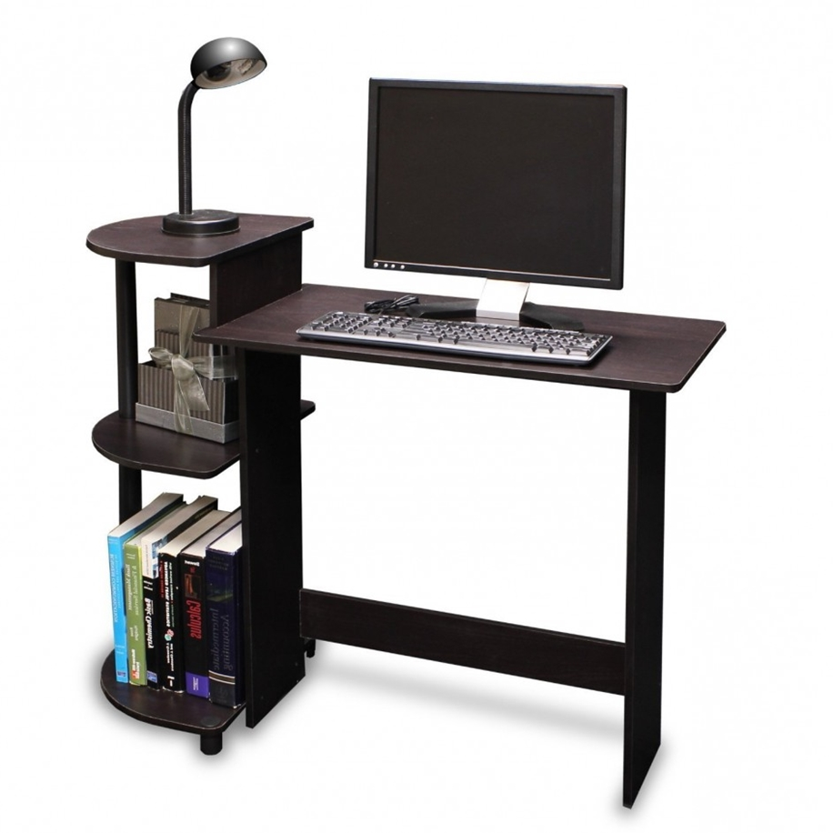 photo of computer desk with wheels with small computer desk on UYIKVDR