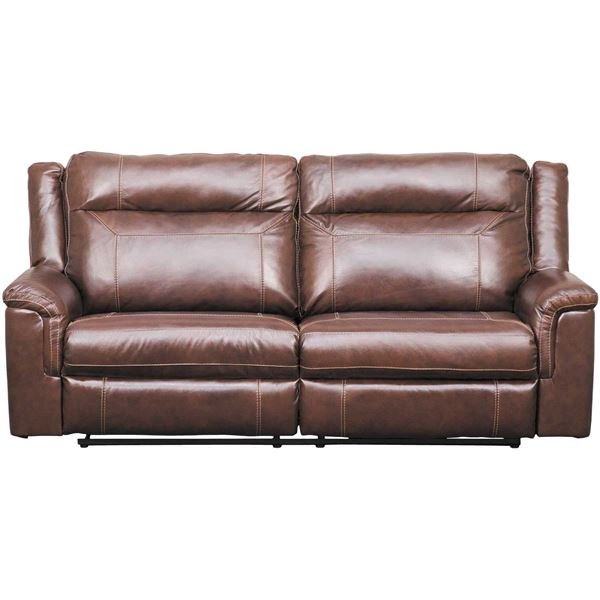 picture of wyline leather power reclining sofa with adjustable headrest YRDVSFY