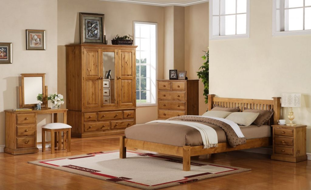 pine bedroom furniture set - interior design bedroom color schemes DFQDLUN