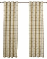 plaid 2-tone plaid curtains, pair, biscuit black, 84 EOQRABU