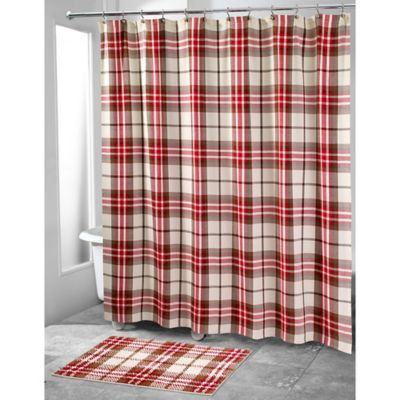 plaid curtains avanti hunter plaid shower curtain AOJFSLJ