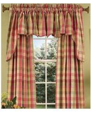 plaid curtains country curtains moire plaid princess swag OTKLQZN