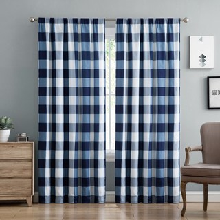 plaid curtains truly soft everyday buffalo check printed curtain panel pair (3 options HOSOQPU