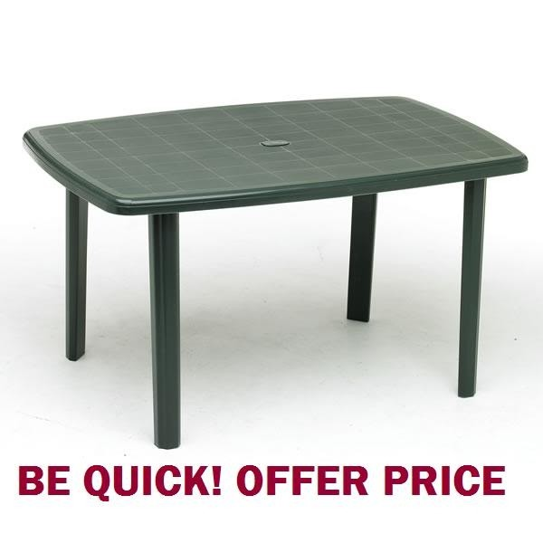 plastic garden table green outdoor table NDMHYVX