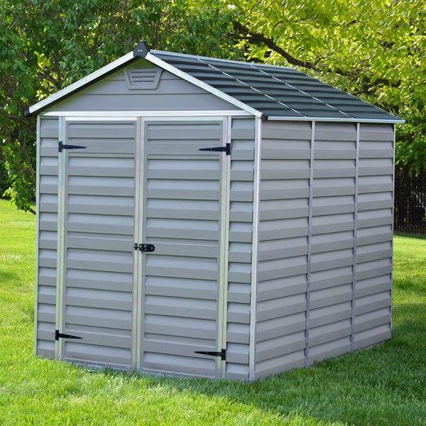 plastic sheds 6u0027 x 8u0027 palram skylight plastic grey shed FDKFJDW