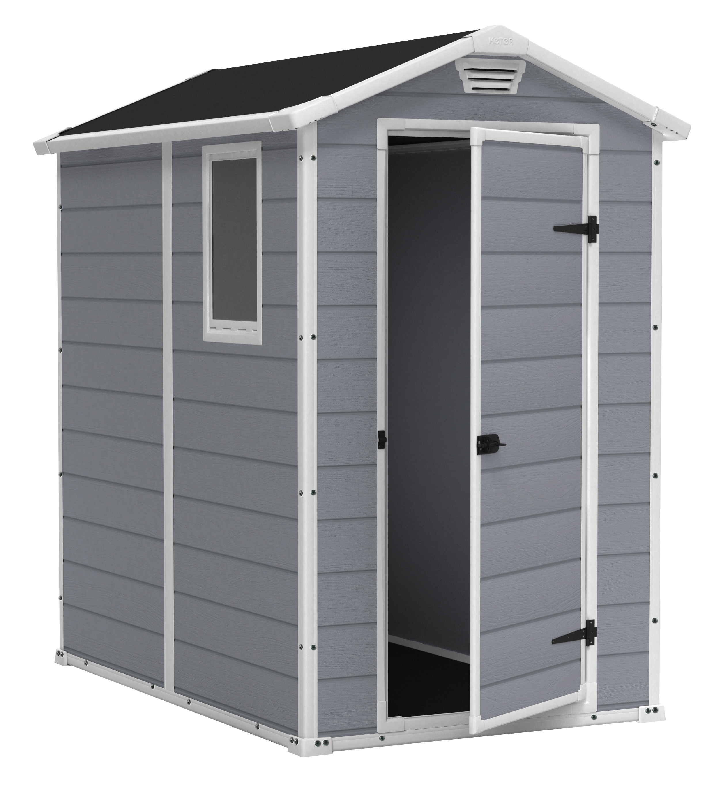 plastic sheds keter manor 4u0027 x 6u0027 resin storage shed, all-weather plastic outdoor NSMTOID