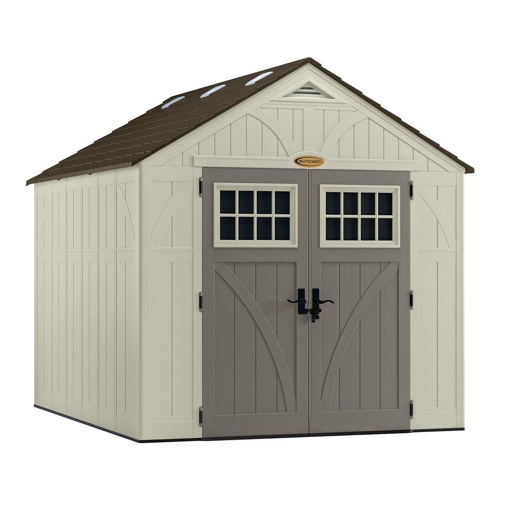 plastic sheds suncast tremont 8 ft. 4-1/2 in. x 10 ft. LFUPCQS