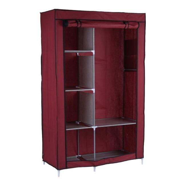 portable closet portable wardrobe diy anti-dust moisture-proof non-woven foldable clothe  storage cabinet WJOGLSV
