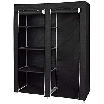 portable closet with 4 shelves and hanging space - wardrobe clothes UPMGOOE