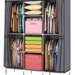 Portable Closet with Good Storage for Clothes and Shoes