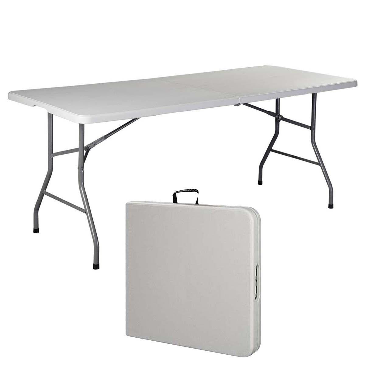 portable folding table 6u0027 folding table portable plastic indoor outdoor picnic party dining camp UZWCXWQ