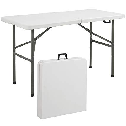 portable folding table best choice products folding table portable plastic indoor outdoor picnic HIMIYKW