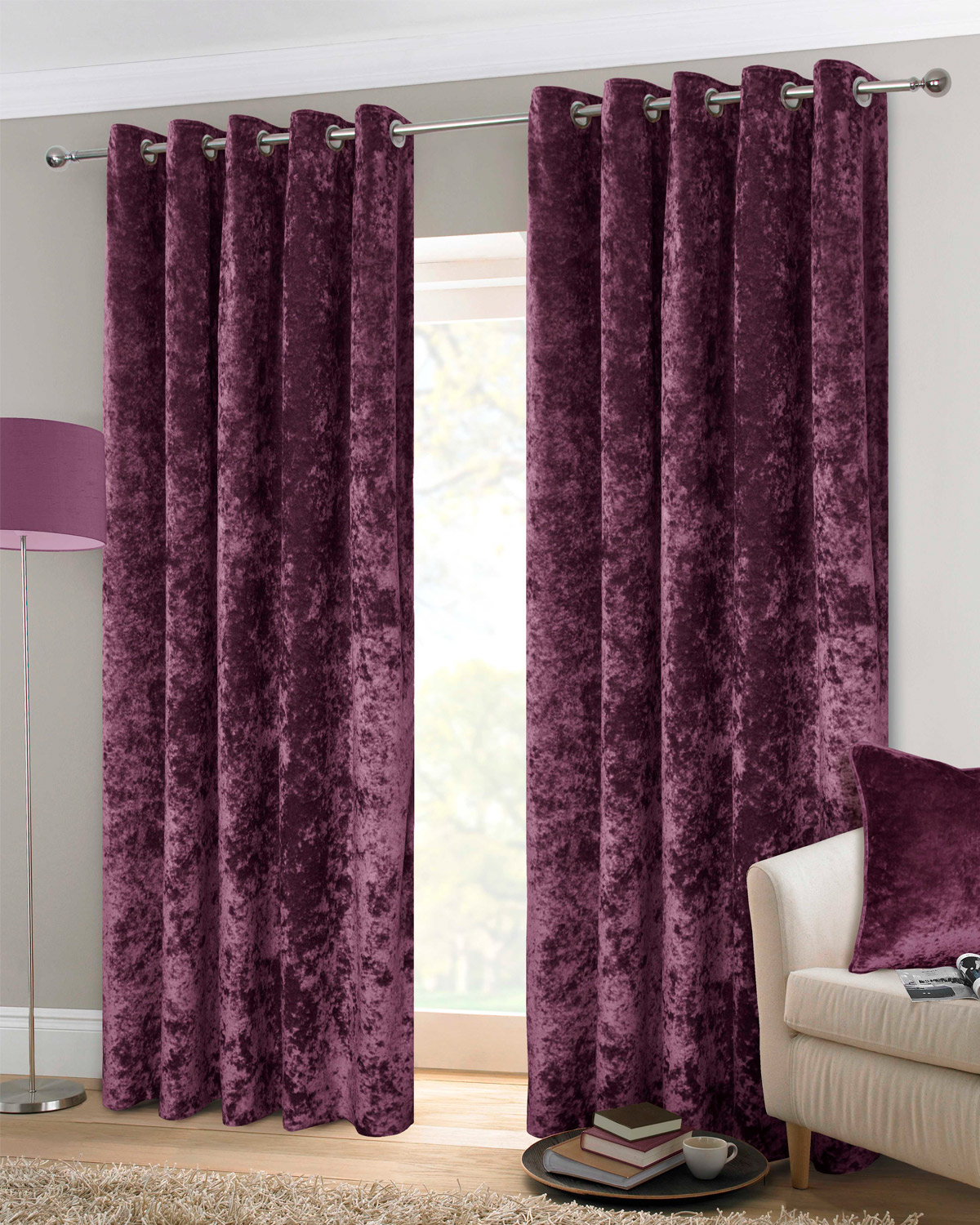 purple curtains dakota purple ready made eyelet curtains | harry corry limited ARWTMNI