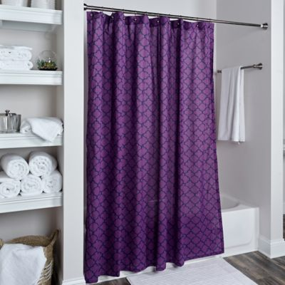purple curtains rizzy home moroccan shower curtain in purple HWUHQEB