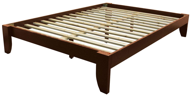 queen bed frame amazon.com: copenhagen all wood platform bed frame, queen, black: kitchen u0026 EPUPGUX