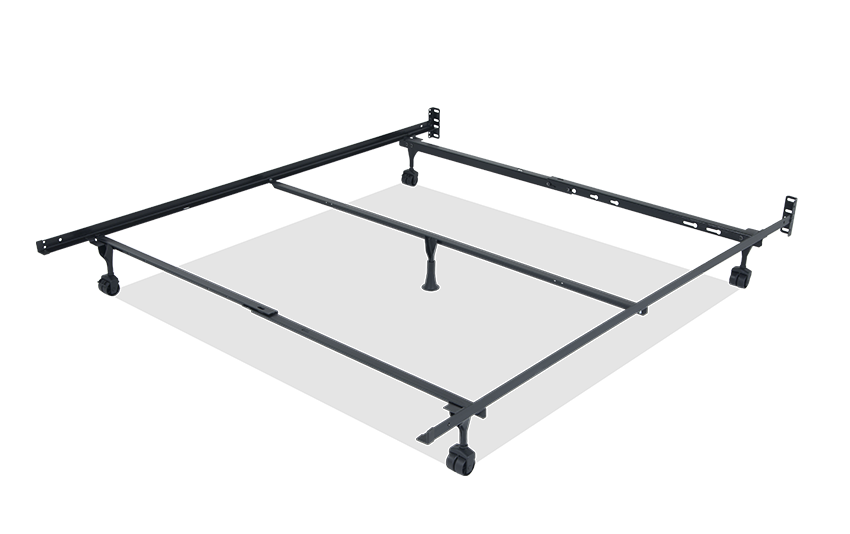 queen bed frame with casters QHXLUSU