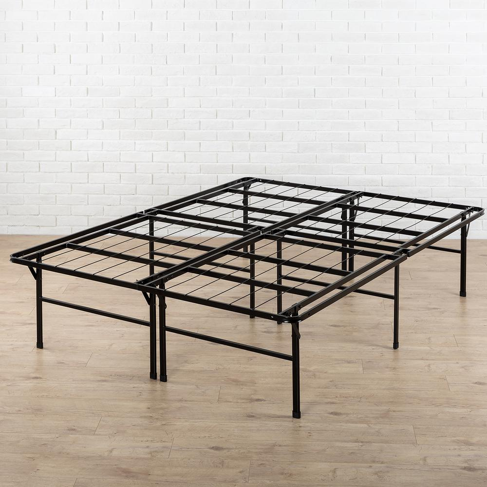 queen bed frame zinus high profile smartbase queen metal bed frame RUNBMFY