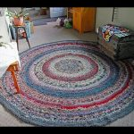 Rag Rug with Multi Color Design