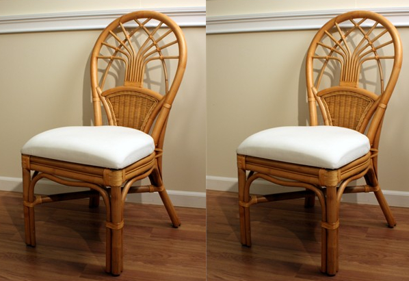 rattan dining chairs rattan dining side chairs - jupiter set of 2 MEGAAKS