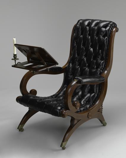 reading chair. c. 1835. the baltimore museum of art: gift of LSHTHIB