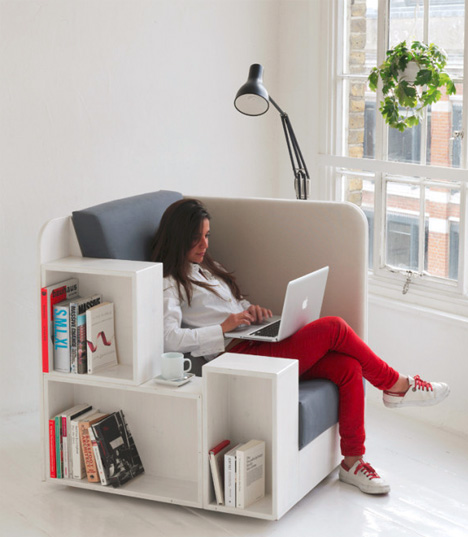 reading chair: seat with built-in book u0026 magazine shelves MEZBTOF