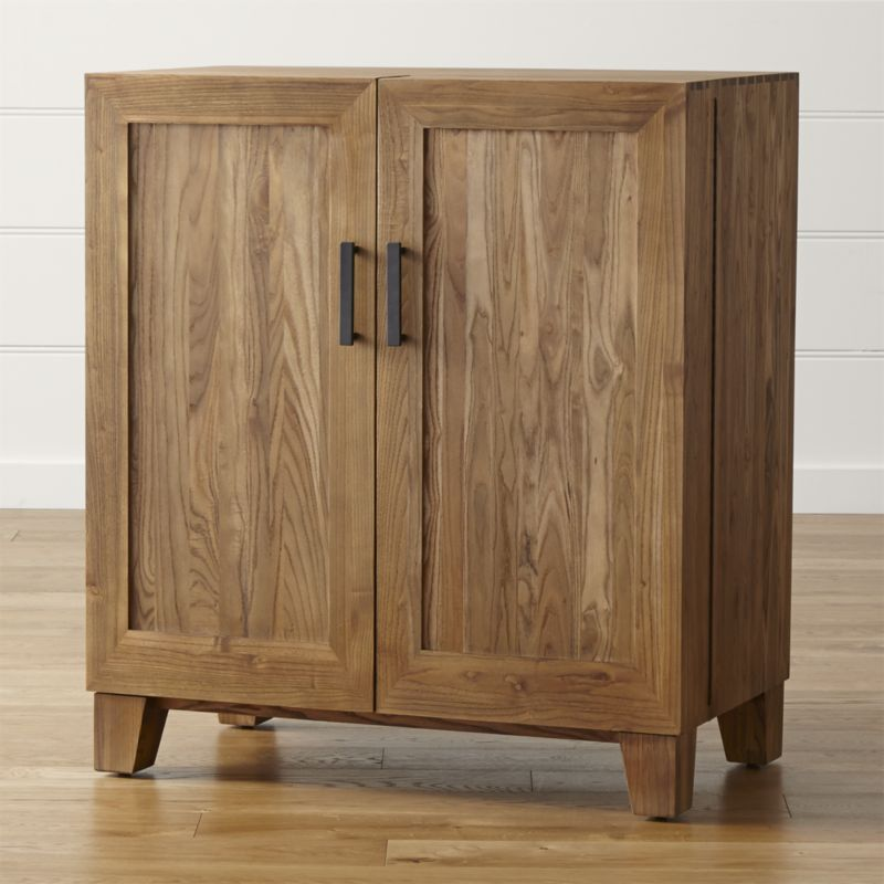 real wood furniture marin natural bar cabinet + reviews | crate and barrel FXUXBFR