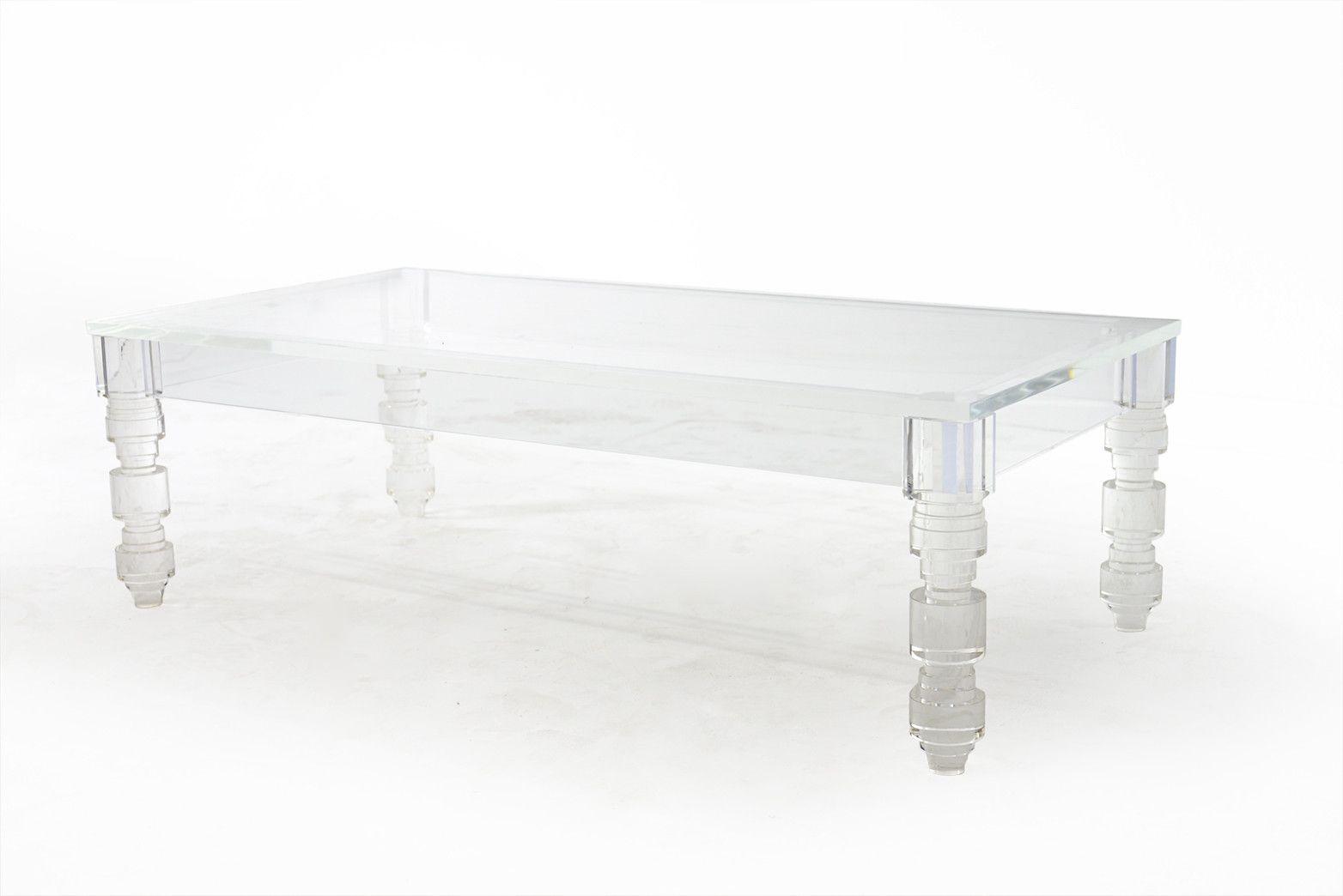 rectangular beverly hills lucite coffee table- #modshop XLKVDMR