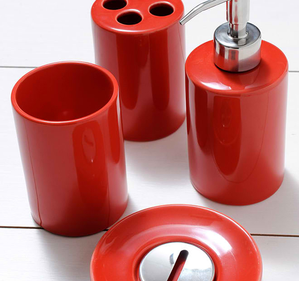 red bathroom accessories ladelle FSVEGZW