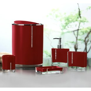 red bathroom accessories save GOQXCJC